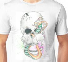 Skull, Snake, Lilies Unisex T-Shirt