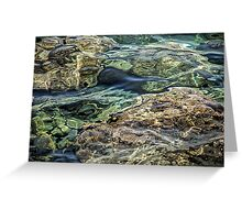 Sea Patterns Greeting Card