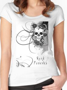 Rock Forever Women's Fitted Scoop T-Shirt
