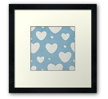 Grunge Pattern With Hearts Framed Print