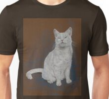 Polo, a very happy snowy white cat Unisex T-Shirt