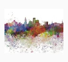 Providence skyline in watercolor background Kids Clothes