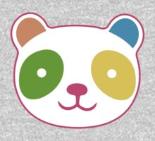 Rainbow Panda One Piece - Short Sleeve