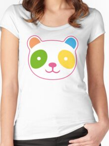 Rainbow Panda Women's Fitted Scoop T-Shirt