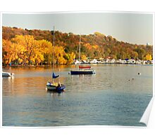 Beautiful Autumn on the Saint Croix River Poster