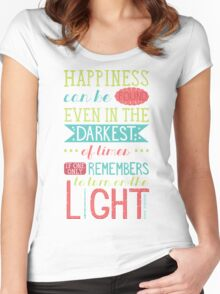 Happiness Women's Fitted Scoop T-Shirt