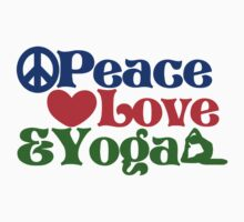 Peace love and yoga Kids Tee