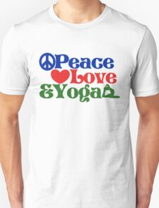 Peace love and yoga T-Shirt