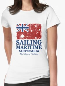 Australia Maritime Flag - Down Under Womens Fitted T-Shirt
