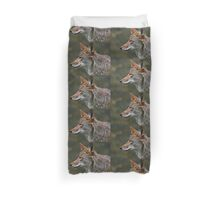 Coyote Profile Duvet Cover