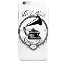 Vinyl addict - Vintage Club iPhone Case/Skin