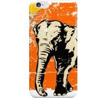 Bhutan Elephant Flag - Vintage Look iPhone Case/Skin