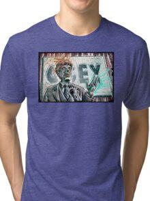 They Live, art, print, john carpenter, 80's, 90's, movie, film, action, sci fi, horror, rowdy, roddy piper, alien, green, face, politician, obey, joe badon Tri-blend T-Shirt