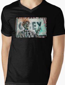 They Live, art, print, john carpenter, 80's, 90's, movie, film, action, sci fi, horror, rowdy, roddy piper, alien, green, face, politician, obey, joe badon Mens V-Neck T-Shirt