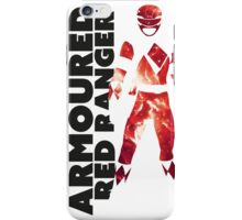 MMPR Armoured Red Print iPhone Case/Skin