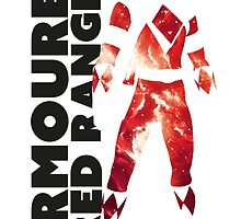 MMPR Armoured Red Print by GekiDesign