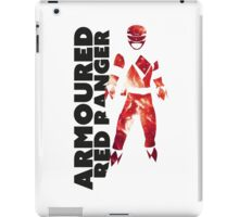 MMPR Armoured Red Print iPad Case/Skin