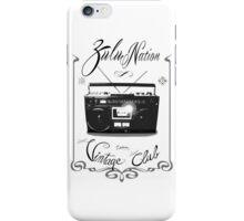 Zulu nation - Ghettoblaster - Vintage club iPhone Case/Skin