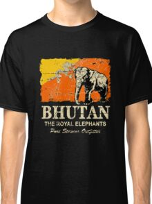 Bhutan Elephant Flag - Vintage Look Classic T-Shirt