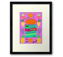 Bread & Fruits jam Pop Art Framed Print