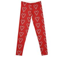 Candy cane heart Leggings