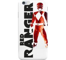 MMPR Red Ranger Print iPhone Case/Skin