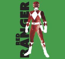 MMPR Red Ranger Print One Piece - Short Sleeve