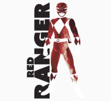 MMPR Red Ranger Print One Piece - Short Sleeve