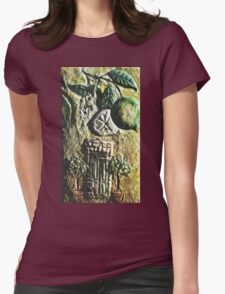 Exclusive: My Creations Artistic Sculpture Relief fact Main 5  (Painting & Digital Art ) (c)(h) by Olao-Olavia / Okaio Créations Womens Fitted T-Shirt