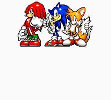 Knuckles,Sonic & Tails Men's Baseball ¾ T-Shirt