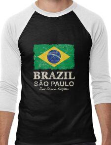 Brazil Flag - Vintage Look Men's Baseball ¾ T-Shirt