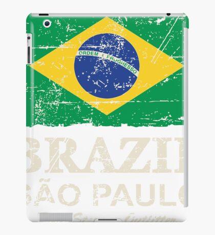 Brazil Flag - Vintage Look iPad Case/Skin