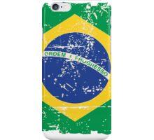 Brazil Flag - Vintage Look iPhone Case/Skin