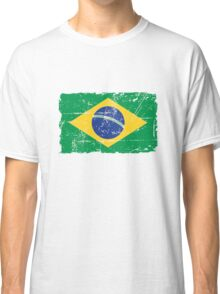 Brazil Flag - Vintage Look Classic T-Shirt