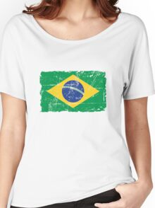 Brazil Flag - Vintage Look Women's Relaxed Fit T-Shirt