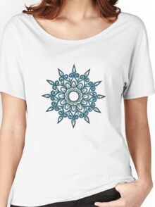 Blue snowflake Women's Relaxed Fit T-Shirt