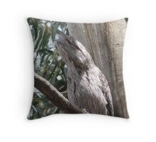 Tawny Frogmouth Owl Throw Pillow