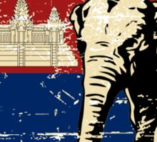 Cambodia Flag - Vintage Look Sticker