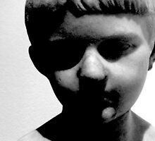 Creepy Statue / Sculpture of Young Boy  by WildTangles