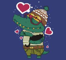 Crocodile in Love by Dev Radion