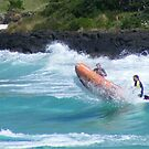 surf lifesavers in action  by gaylene