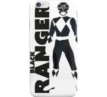 MMPR Black Ranger Print iPhone Case/Skin