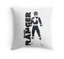 MMPR Black Ranger Print Throw Pillow
