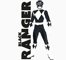 MMPR Black Ranger Print Unisex T-Shirt