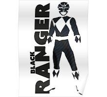 MMPR Black Ranger Print Poster