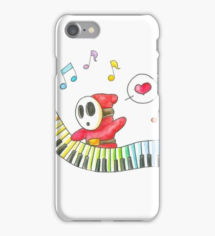 Shyguy Plays a Piano iPhone Case/Skin
