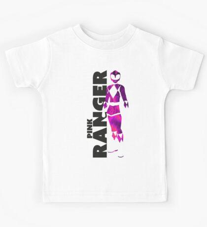 MMPR Pink Ranger Print Kids Tee