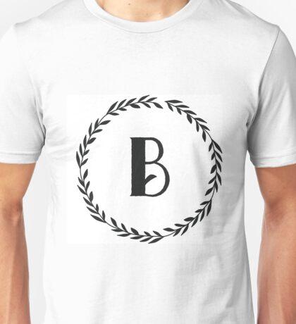 Monogram Wreath - B Unisex T-Shirt