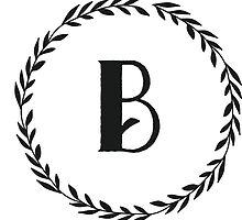 Monogram Wreath - B by verbose