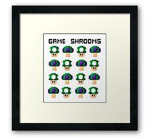 Game Shrooms Framed Print